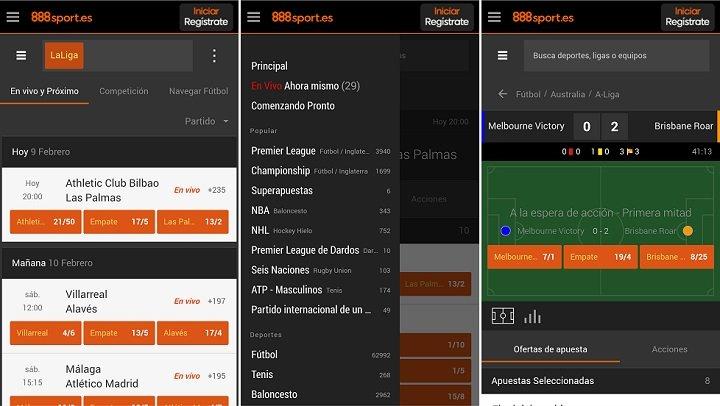 Usando la aplicación 888sport en España
