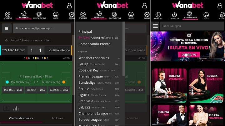 App wanabet para Android