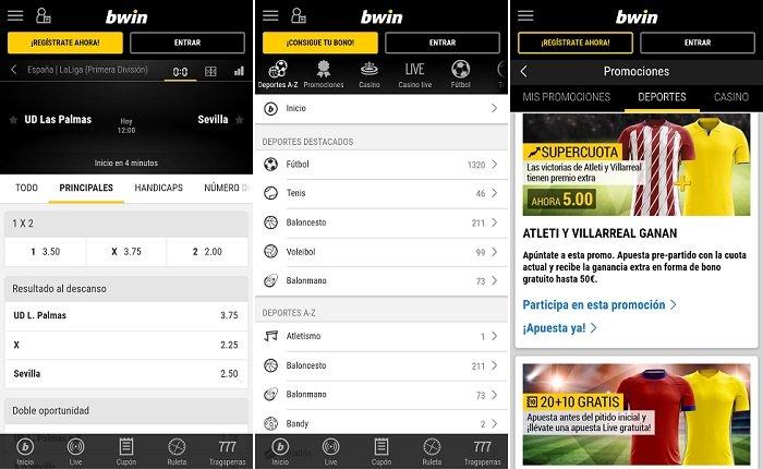 revisión de la app de Android de bwin