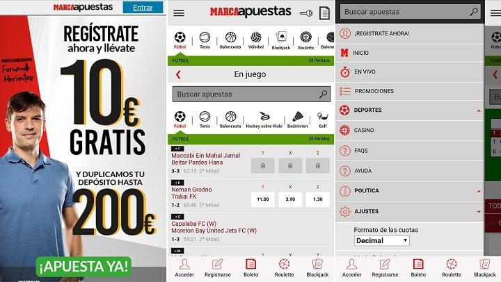 App deportiva marcaApuestas para Android
