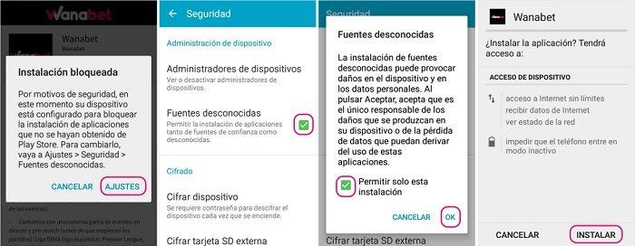 Descarga App Wanabet Android