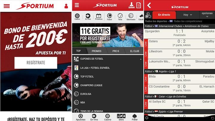 La última app de Sportium