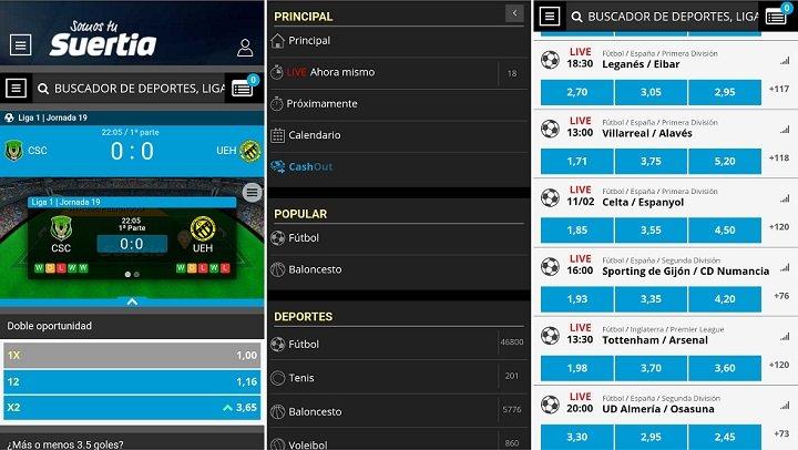 App deportiva de Suertia para Android