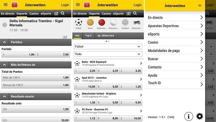 descargar la app de Interwetten para Android