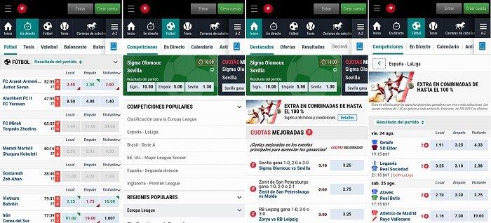 Usando la aplicación de BetStars en España