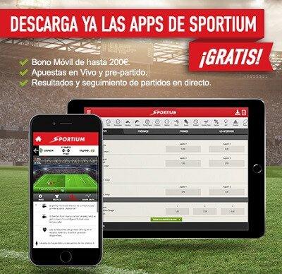 Sportium Android app para el móvil