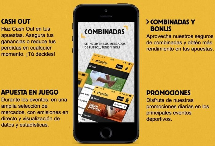 Aplicación de Betfair para iPhone