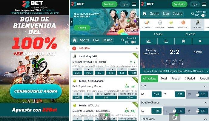 22Bet app - apuestas deportivas